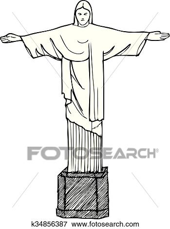 clip art of cristo redentor k34856387 search clipart illustration