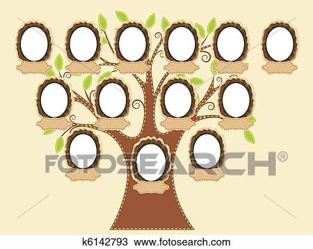 clipart of family tree k6142793 search clip art illustration
