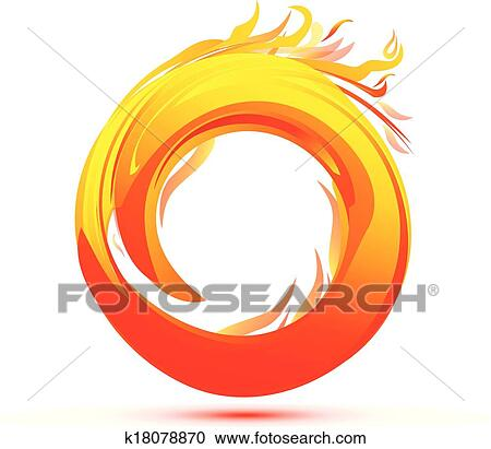 clipart of flames and fire abstract logo k18078870 search clip art rh fotosearch com clip art frames clip art frames and borders free