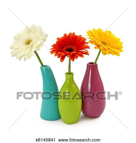 Stock Photography Of Flowers In Vases K6145841 Search Stock Photos