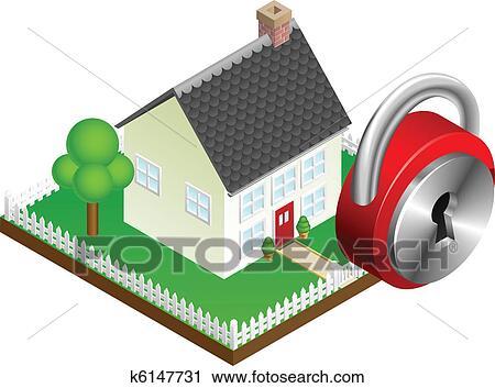 clipart s curit maison syst me concept k6147731 recherchez des clip arts des. Black Bedroom Furniture Sets. Home Design Ideas