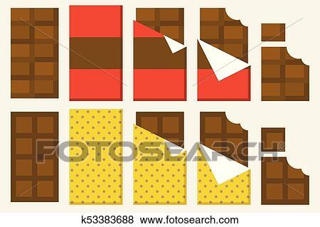 Tavoletta Di Cioccolato Disegno.Tavoletta Di Cioccolato Icona Set Tavoletta Di Cioccolato