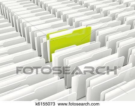 drawing of green and grey folders k6155073 search clipart