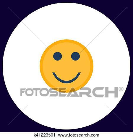 Clipart Of Happy Face Computer Symbol K41223501 Search Clip Art