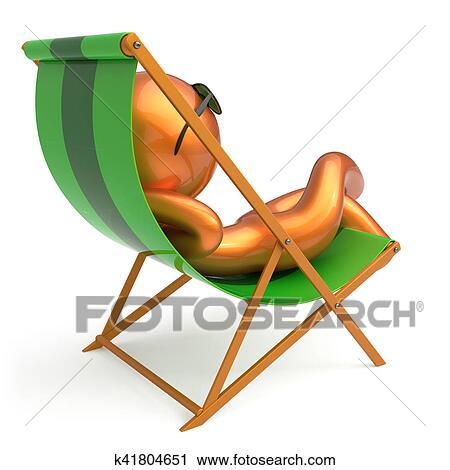 Sonnenstuhl clipart  Clipart - mann, basierend, sandstrand, sonnenstuhl, sonnenbrille ...