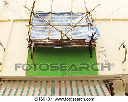 Bild Balkon Aufbau Mit Gerustbau Auf Altes Gebaude K6160737