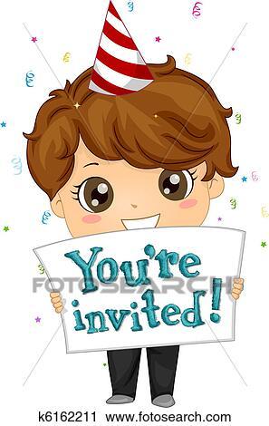 Clipart Of Birthday Invitation K6162211 Search Clip Art