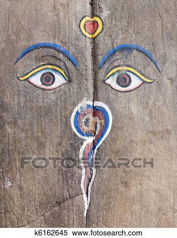 Stock Image Of Buddha Eyes K6162645 Search Stock Photos Mural