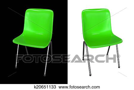 dessin chaise verte 3d modle render fotosearch recherchez des cliparts - Chaise Verte