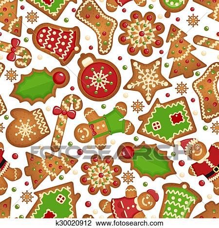 Christmas Cookies Pattern Clipart