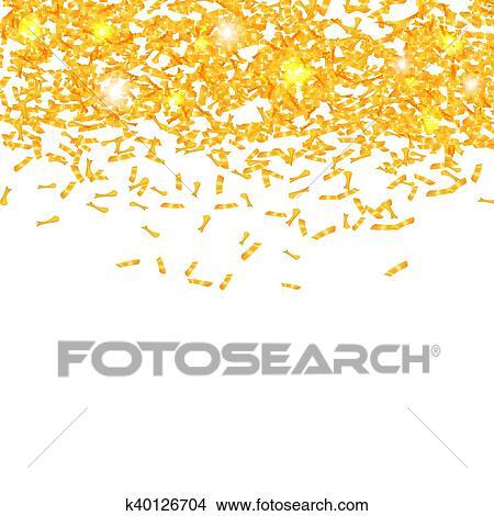 Estratto Vettore Colorito Fondo Con Confetti Elemento Di