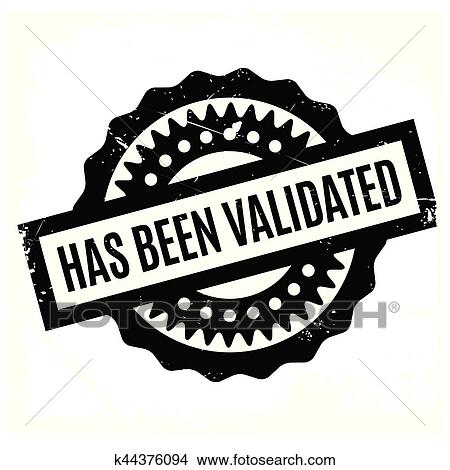 Clipart Of Has Been Validated Rubber Stamp K44376094