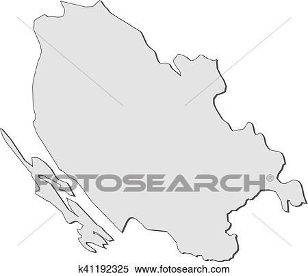 Mapa Lika Senj Croatia Clipart K41192325 Fotosearch