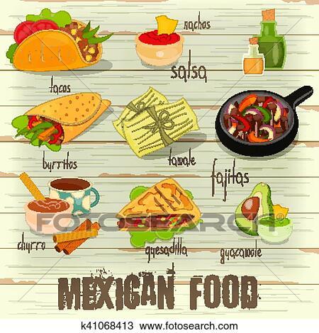 Mexican Menu Restaurant, Food Template. Stock Vector - Illustration of  layout, restaurant: 113044639