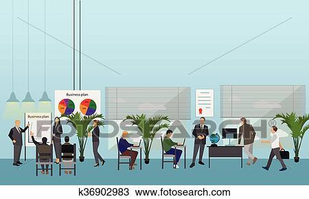 Disegno Di Ufficio : Clipart appartamento disegno di persone affari o workers