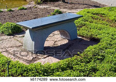 Beau Jardin Japonais Pierre Granit Allocation Places Banc