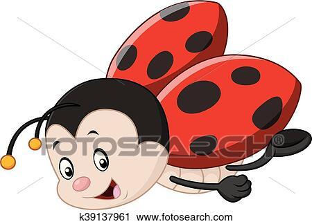 Clipart Carino Coccinella Cartone Animato K39137961 Cerca