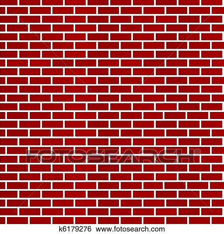 Abstract Background Of Dark Red Bricks Isolated On White