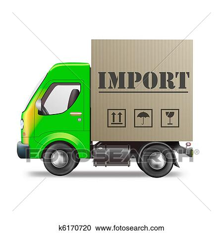 Stock Illustrations of import delivery truck k6170720 ...