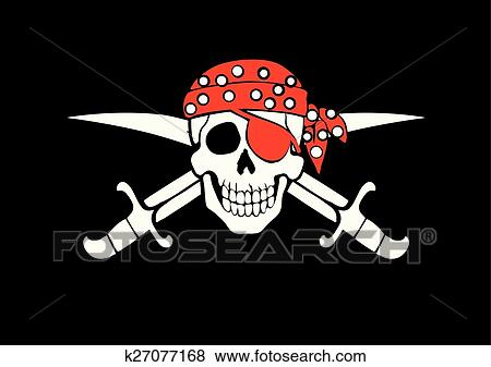 clip art of jolly roger pirate flag k27077168 search clipart
