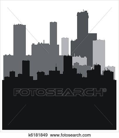 建物, シルエット イラスト