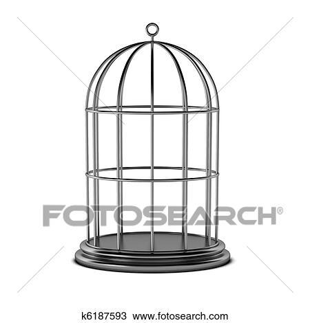 3d render k6187593 fotosearch - Dessin oiseau en cage ...