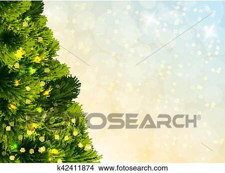 Christmas Tree Template Clipart K42411874 Fotosearch