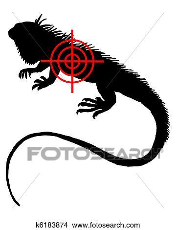 Dibujos Iguana Crosslines K6183874 Buscar Clip Art
