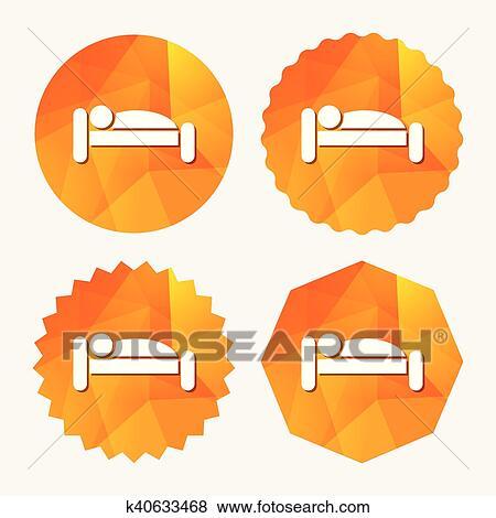Clip Art Menschlich Bett Icon Rest Place Schwelle Symbol