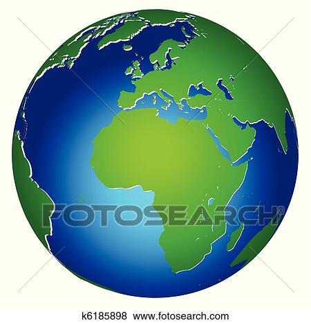 Mondiale Global Terre Planete Icone Clipart K6185898 Fotosearch