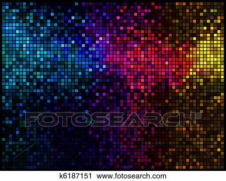 clipart multicolore r sum lumi res disco arri re plan carr e pixel mosa que vecteur. Black Bedroom Furniture Sets. Home Design Ideas