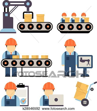 clipart of production process vector illustration k28546592 search