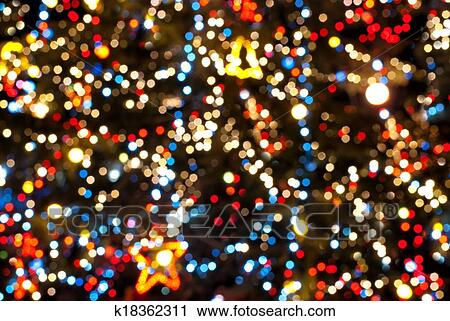 Stock Photography Of Christmas Tree Lights K18362311 Search Stock