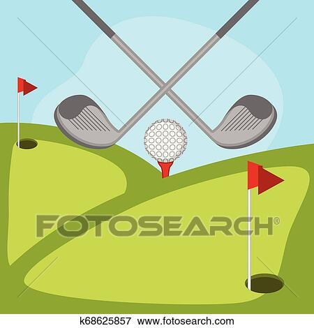 Isolated Golf Course Background Clip Art K68625857 Fotosearch