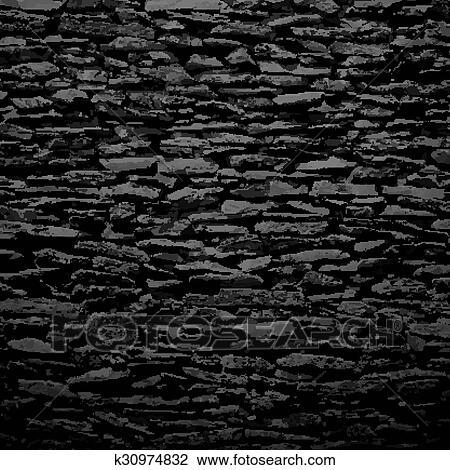 clipart mur pierre noir soulagement texture ombre k30974832 recherchez des clip arts. Black Bedroom Furniture Sets. Home Design Ideas