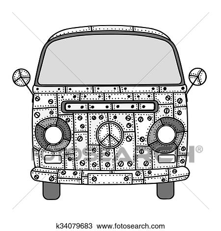 Drawing Of Van In Tangle Patterns Style K40 Search Clipart Beauteous Tangle Patterns