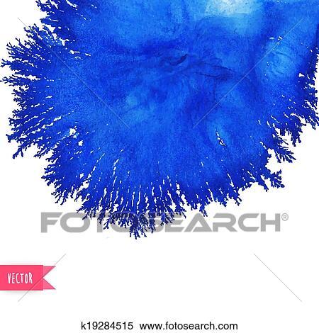 clipart vecteur aquarelle tache aimer coral résumé bleu