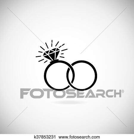Wedding Rings Vector Icon Clipart K37853231 Fotosearch