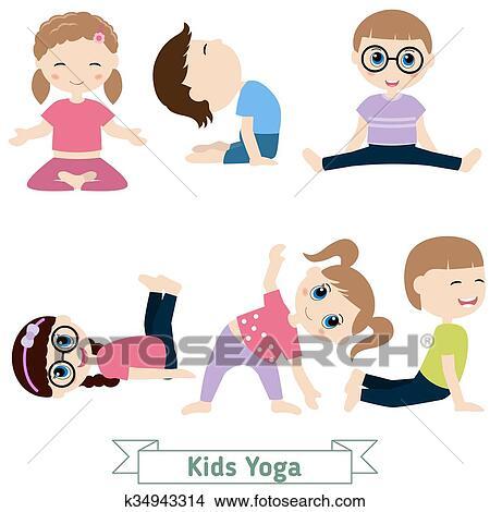 Children Yoga Clipart K34943314 Fotosearch