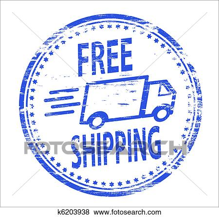 clip art of free shipping stamp k6203938 search clipart rh fotosearch com Shipping and Receiving Clip Art Shipping Clerk Clip Art