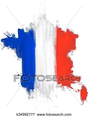 France Map Flag.Clip Art Of Grunge Map Of France With French Flag K34992777 Search