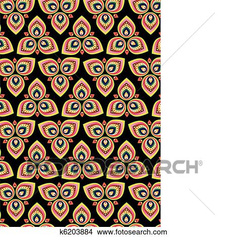 clipart indische muster hintergrund k6203884 suche clip art illustration wandbilder. Black Bedroom Furniture Sets. Home Design Ideas