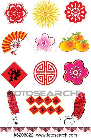 剪贴画 中国的新年, 元素