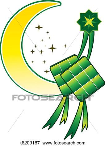 clip art of ketupat moon k6209187 search clipart illustration rh fotosearch com graphics clip art easter graphic clip art free