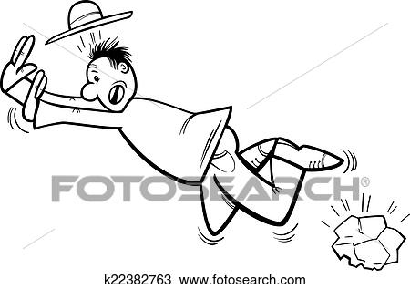 Clipart - stolpern, mann, färbung, seite k22382763 - Suche Clip Art ...