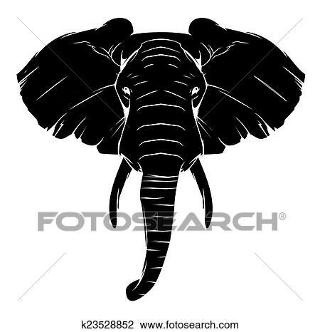 tatouage, éléphant, symbole clipart | k23528852 | fotosearch