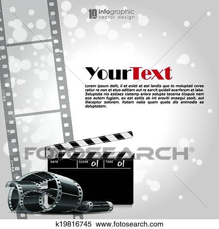 Vector Background Movie Film Strip Clipart K19816745 Fotosearch