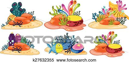 clipart of coral reef k27632355 search clip art illustration rh fotosearch com coral reef clipart free coral reef clipart png
