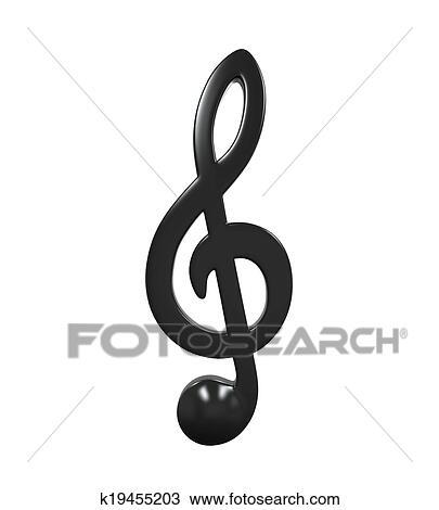 Note Musique Icone Dessin K19455203 Fotosearch