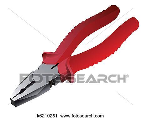 Clipart Pinze Con Rosso Manici K6210251 Cerca Clipart